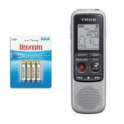 Sony ICD-BX140 4GB Digital Voice Recorder Bundle