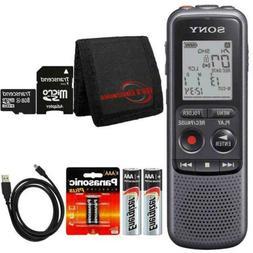 Sony ICD-PX240 Mono 4GB Digital Voice Recorder + 8GB MicroSD
