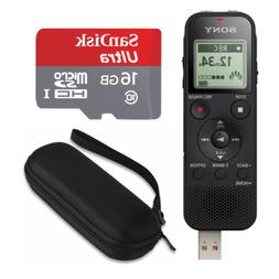 Sony ICD-PX470 Stereo Digital Voice Recorder bundle