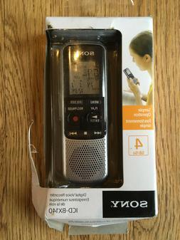 Sony ICDBX140 4GB Digital Voice Recorder NEW