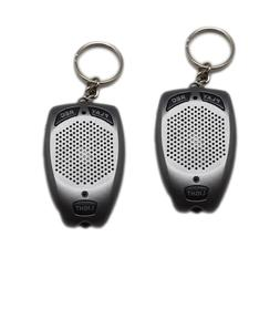 KEYCHAIN DIGITAL MINI VOICE RECORDER WITH FLASHLIGHT LED FUN