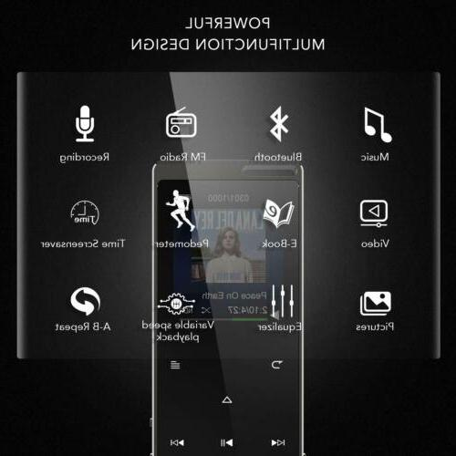 AGPTEK MP3 16GB FM Voice Recorder Button Black
