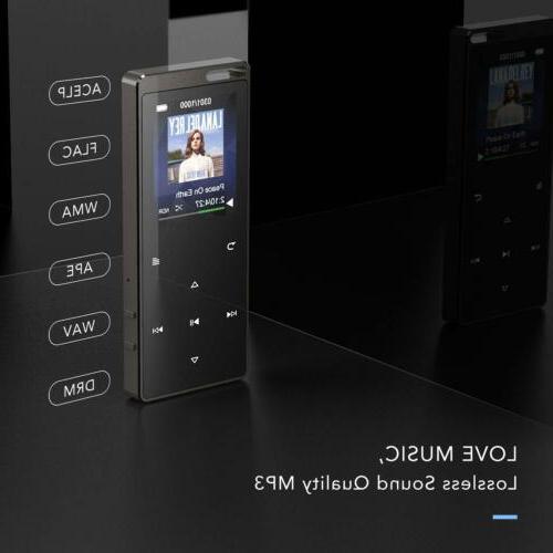 AGPTEK MP3 Player 16GB FM Radio Recorder Black