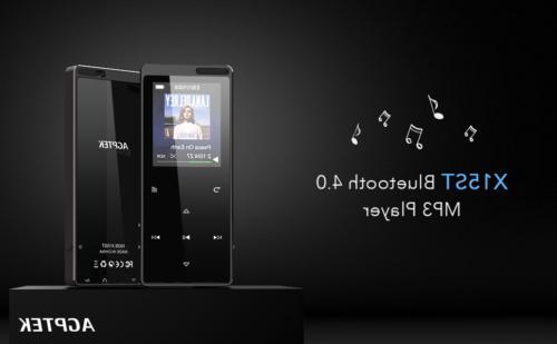 AGPTEK MP3 Player Bluetooth 16GB FM Radio Voice Recorder wit