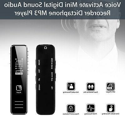 16GB Digital Audio Recorder Spy Dictaphone MP3 Player Voice