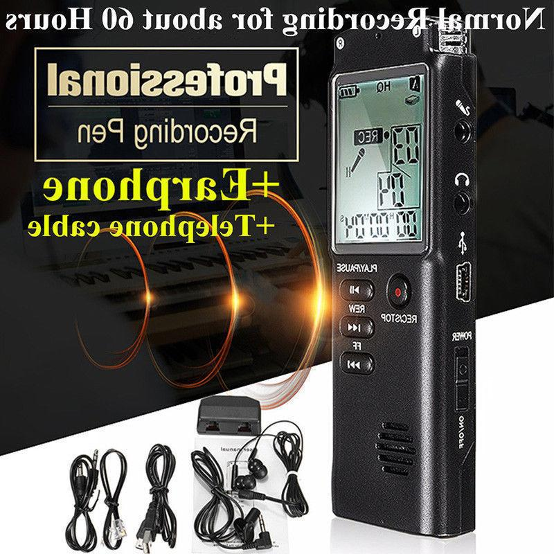16GB Digital Rechargeable Sound Recorder Dictaphone