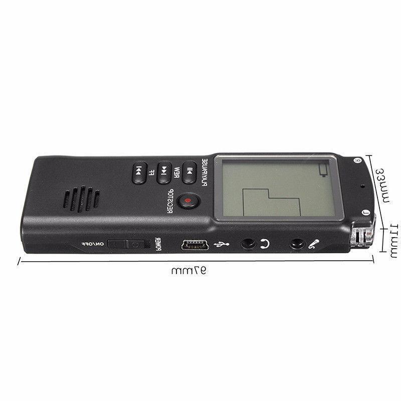 16GB Digital Audio Sound Recorder Dictaphone MP3