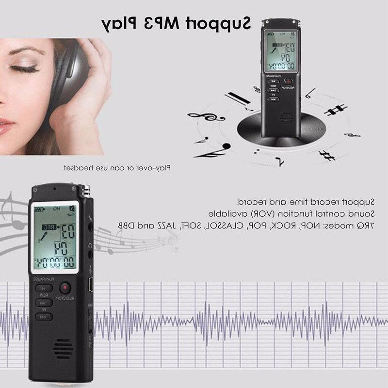 16GB Sound Voice Dictaphone MP3