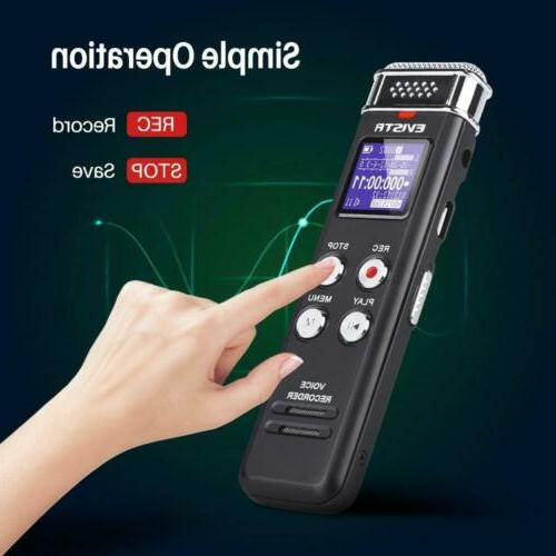 EVISTR Digital Voice Activated Interviews, USB Charge,