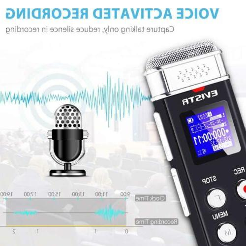 EVISTR 16GB Voice Activated Recorder, for Interviews, USB