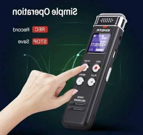 EVISTR Recorder Dictaphone w/