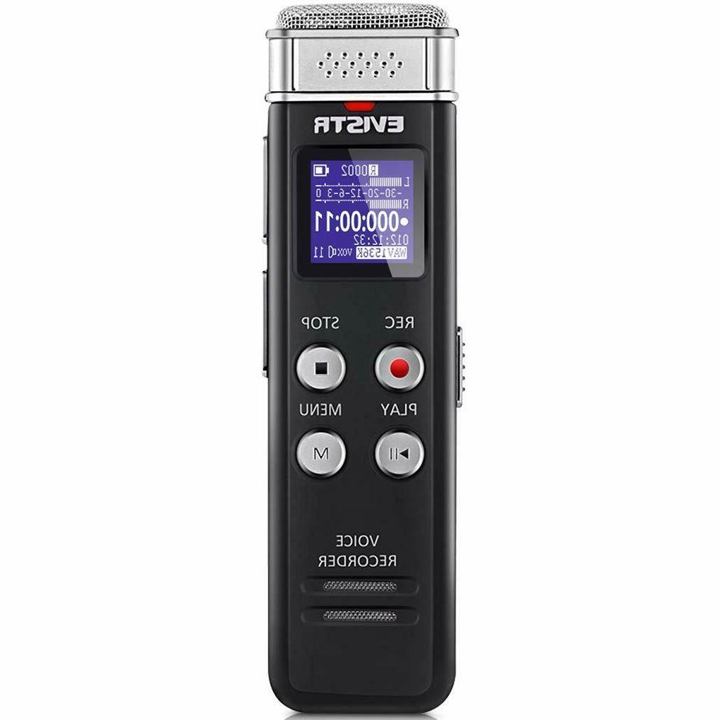 evistr 16gb digital voice recorder voice activated