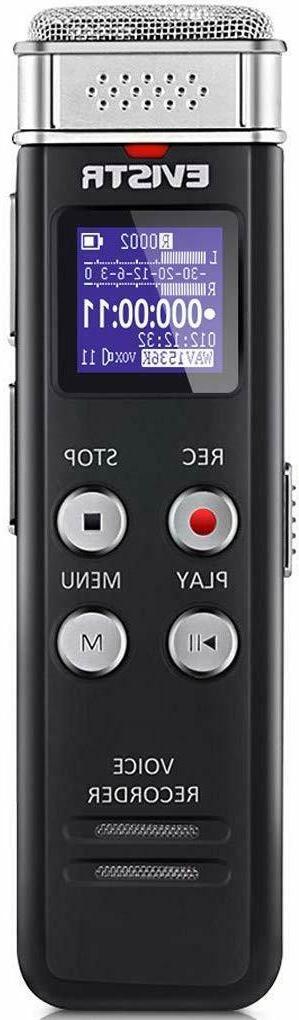 EVISTR Upgraded 1536kpbs 16GB Digital Activated MP3