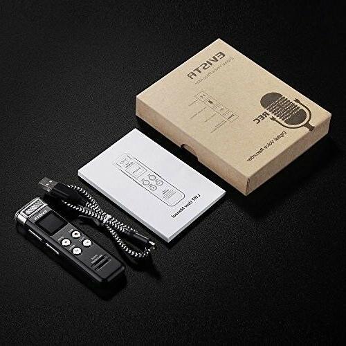 EVISTR 16GB Digital Voice Recorder Playback -