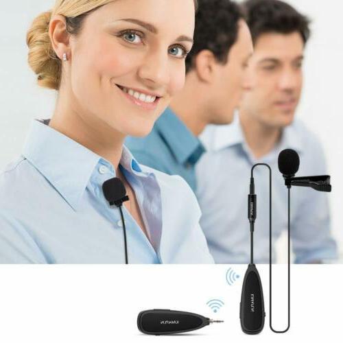 2.4G Headset+Lavalier Microphone Mics Amplifier &