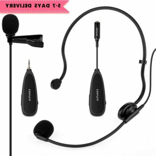 2 4g wireless headset lavalier microphone mics