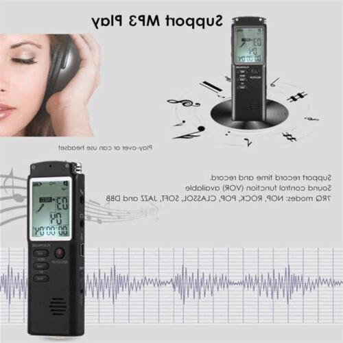 32G Voice Spy Digital Recorder MP3 Player