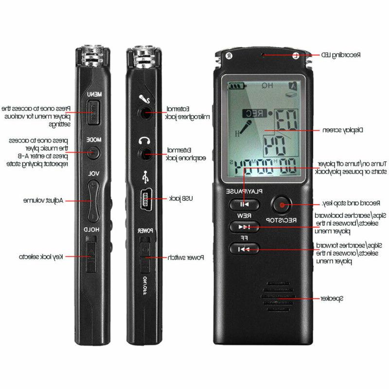 32G Digital Sound Voice Pen Dictaphone Player