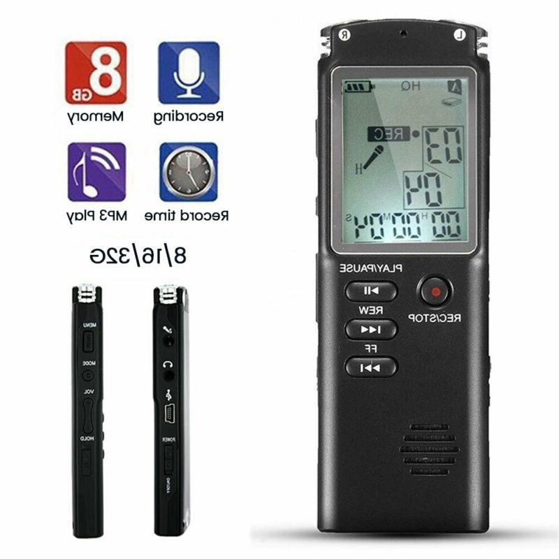 32G Digital Sound Voice Dictaphone