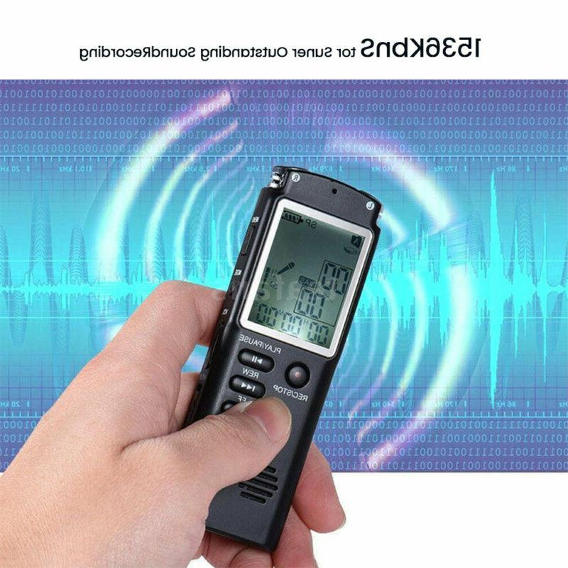 32G Rechargeable Sound Voice Dictaphone MP3