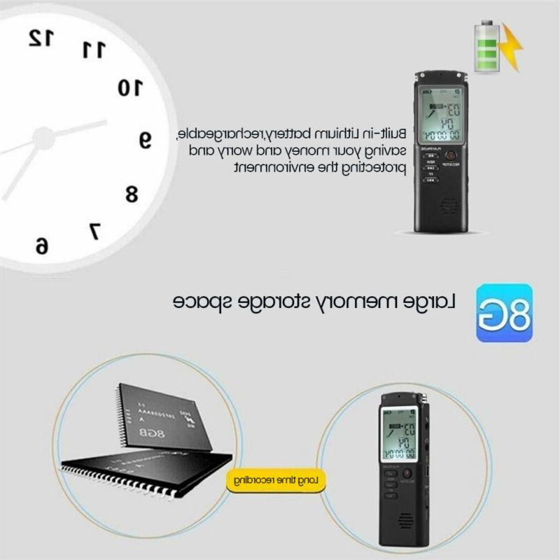 32G Sound Voice Recorder Dictaphone MP3 Player