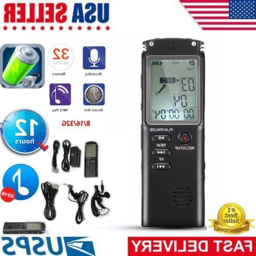 32gb rechargeable lcd digital audio sound voice