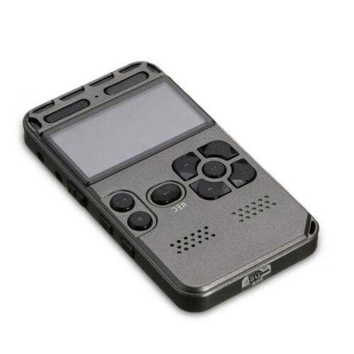 64G LCD Audio Voice Recorder Dictaphone