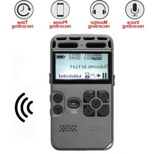 64G Rechargeable Digital Dictaphone MP3