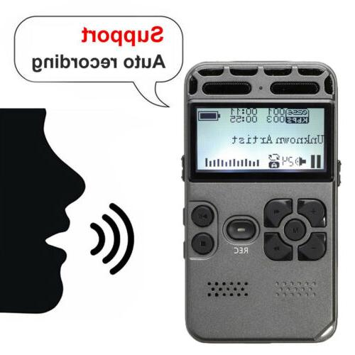 64G Rechargeable LCD Digital Audio Sound Voice Dictaphone