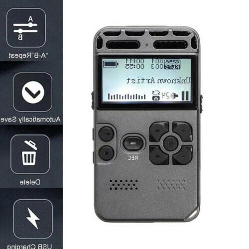 64g rechargeable lcd digital audio sound voice