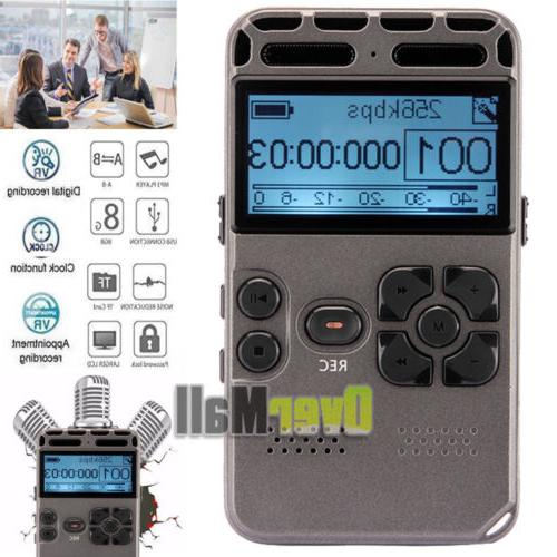 64gb rechargeable lcd digital audio sound voice
