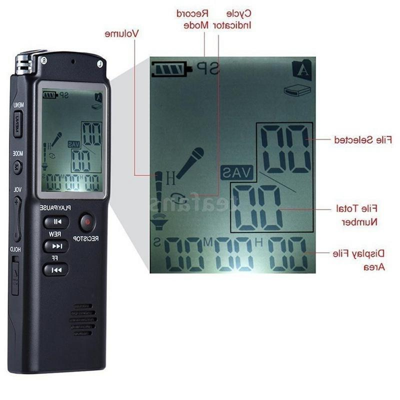 8G/16G/32G Rechargeable VAR/VOR <font><b>Voice</b></font> Telephone MP3