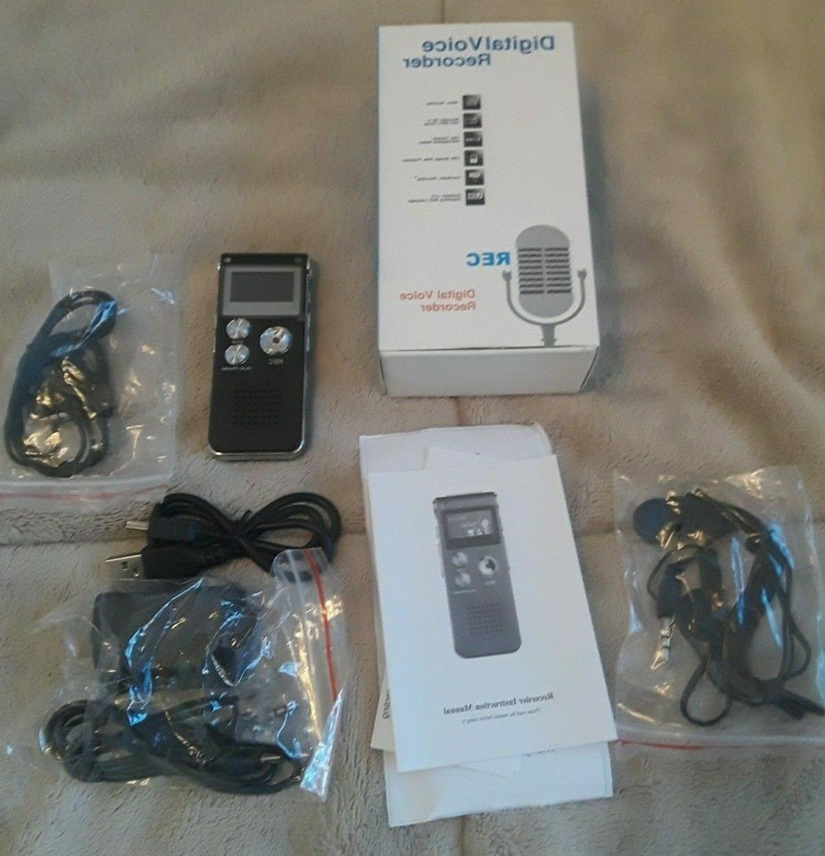 Acee 8G Digital Audio Recorder Activated Open Box