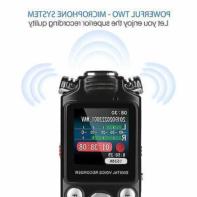 8GB/16GB LCD Digital Voice Recorder w/Built-in