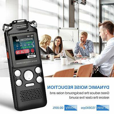 8GB/16GB LCD Voice Recorder Audio w/Built-in