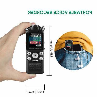 8GB/16GB Voice Audio Recorder w/Built-in