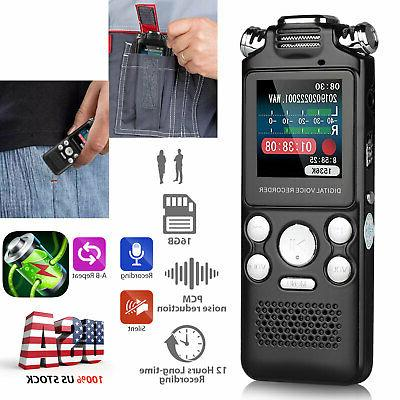 8gb 16gb lcd activated digital voice recorder