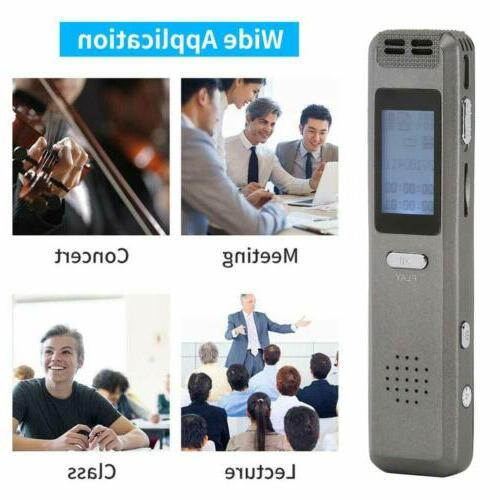 8GB Digital Voice Recorder Voice Activated Recorder for Lect
