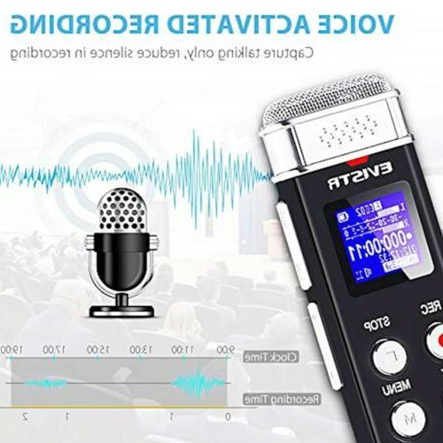 EVISTR Digital Voice Recorder Portable Recorders