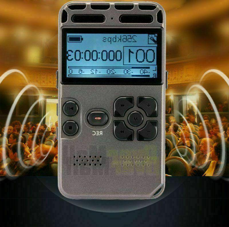 8GB LCD Audio Voice Recorder Dictaphone
