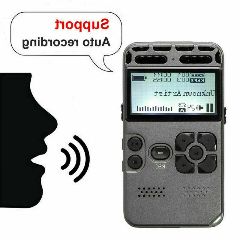 8GB Rechargeable LCD Audio Sound Voice Dictaphone Player