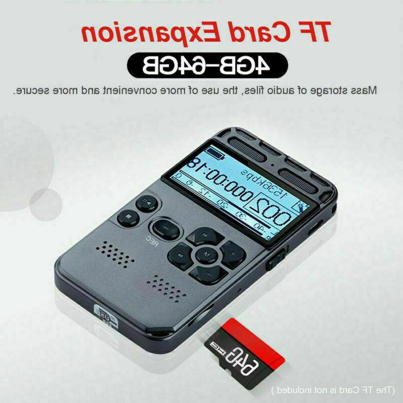 8GB Rechargeable LCD Audio Sound Dictaphone MP3