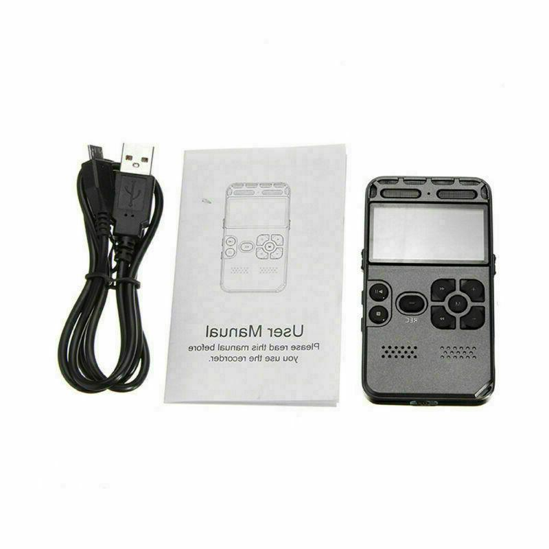 8GB Digital Audio Voice Recorder Dictaphone Player