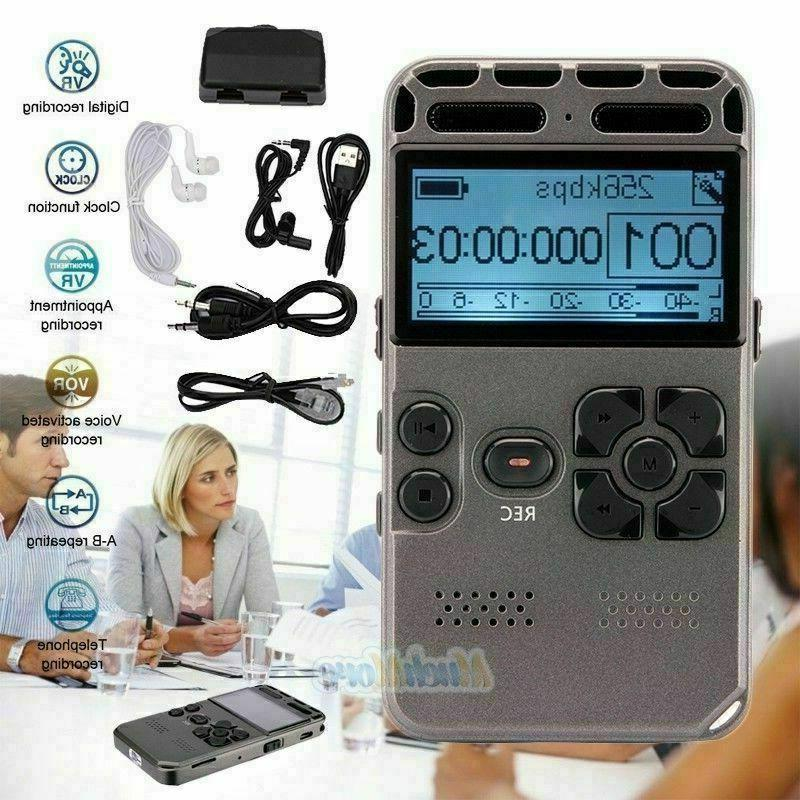 8gb rechargeable lcd digital audio sound voice