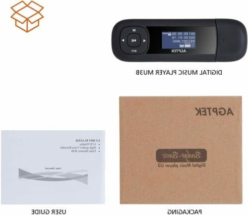 AGPTEK Flash Player,Suport USB 2.0 Providing High Transfer