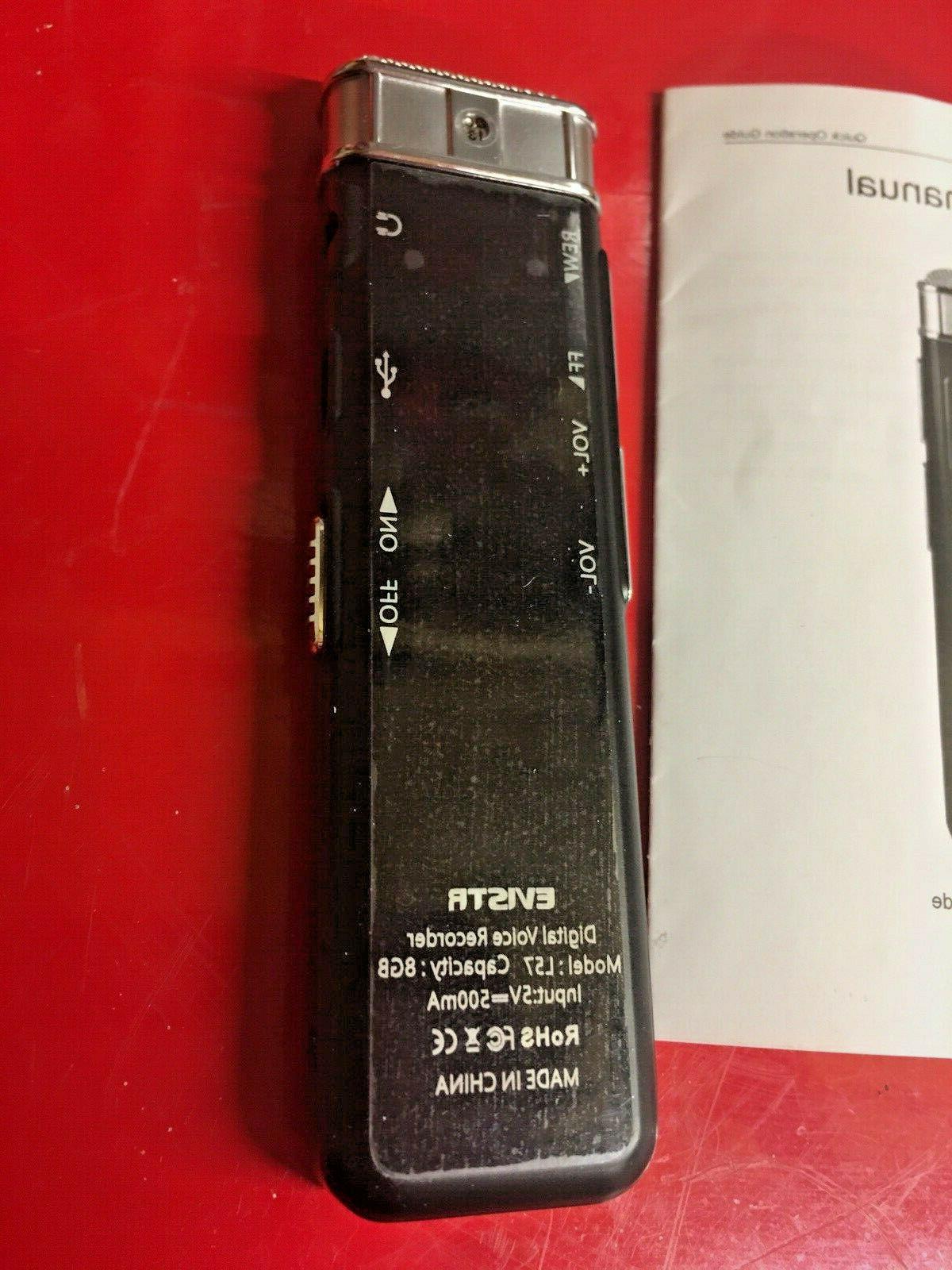 Evistr 8GB Slim Digital Voice Recorder Mini Audio Dictaphone