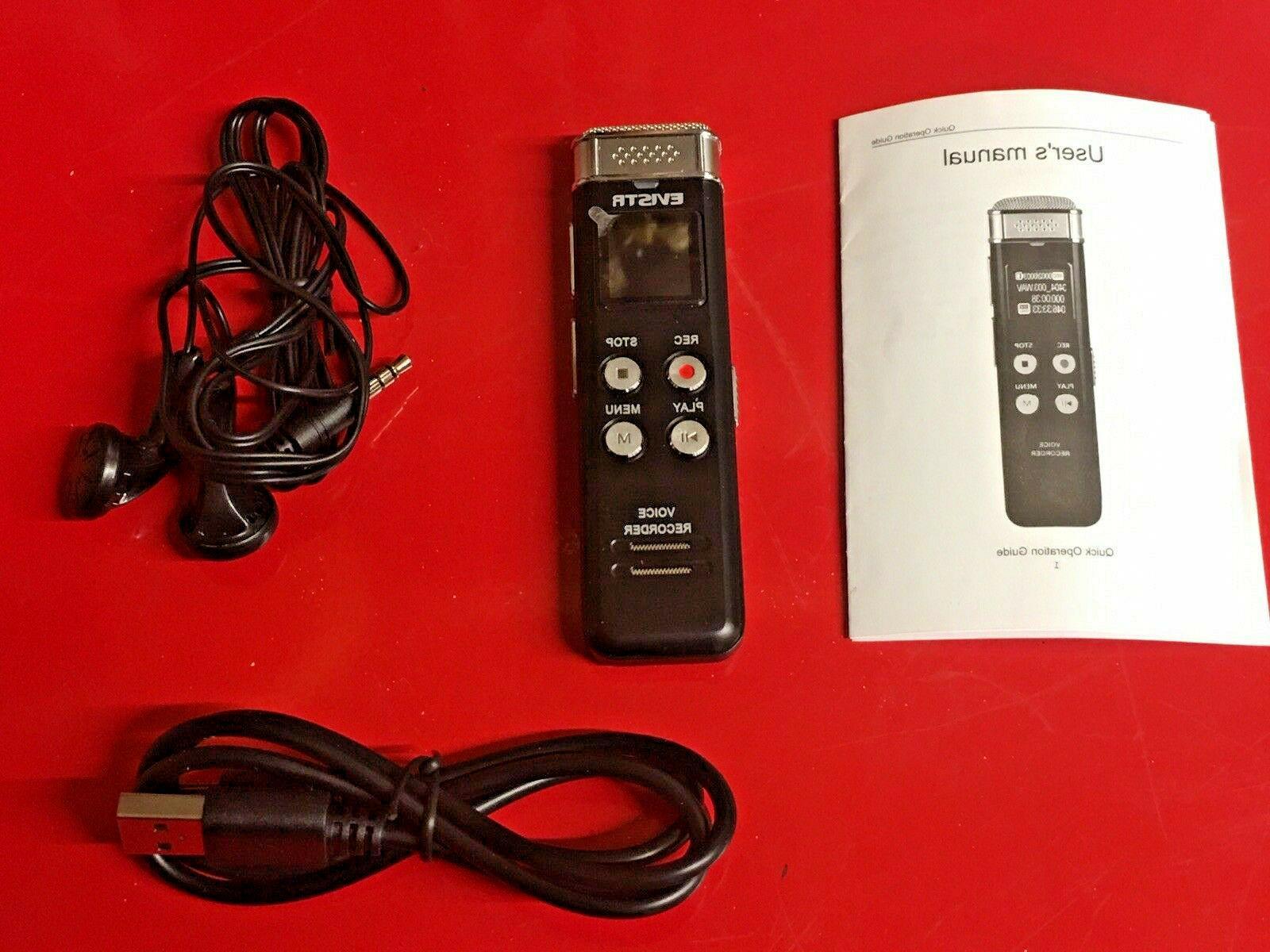 Evistr 8GB Slim Voice Recorder Audio Dictaphone