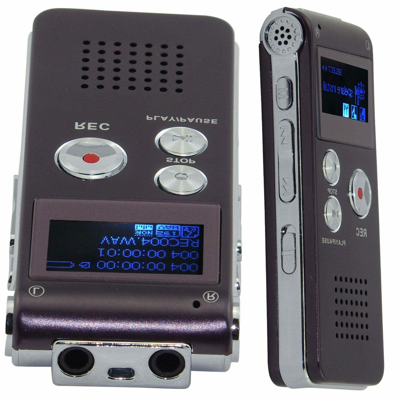 8GB USB Rechargeable Dictaphone MP3