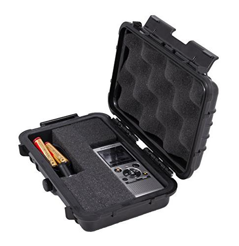CASEMATIX Waterproof Voice Recorder Hard Case for Olympus Di