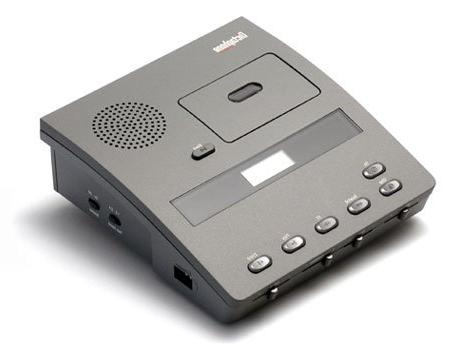 Dictaphone 3740 Microcassette Transcriber w/Foot Control-Hea